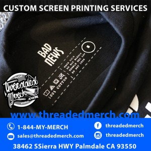 Custom Screen Printed Tagless Care Labels